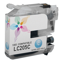Compatible LC205C Super High Yield Cyan Ink Cartridge for Brother