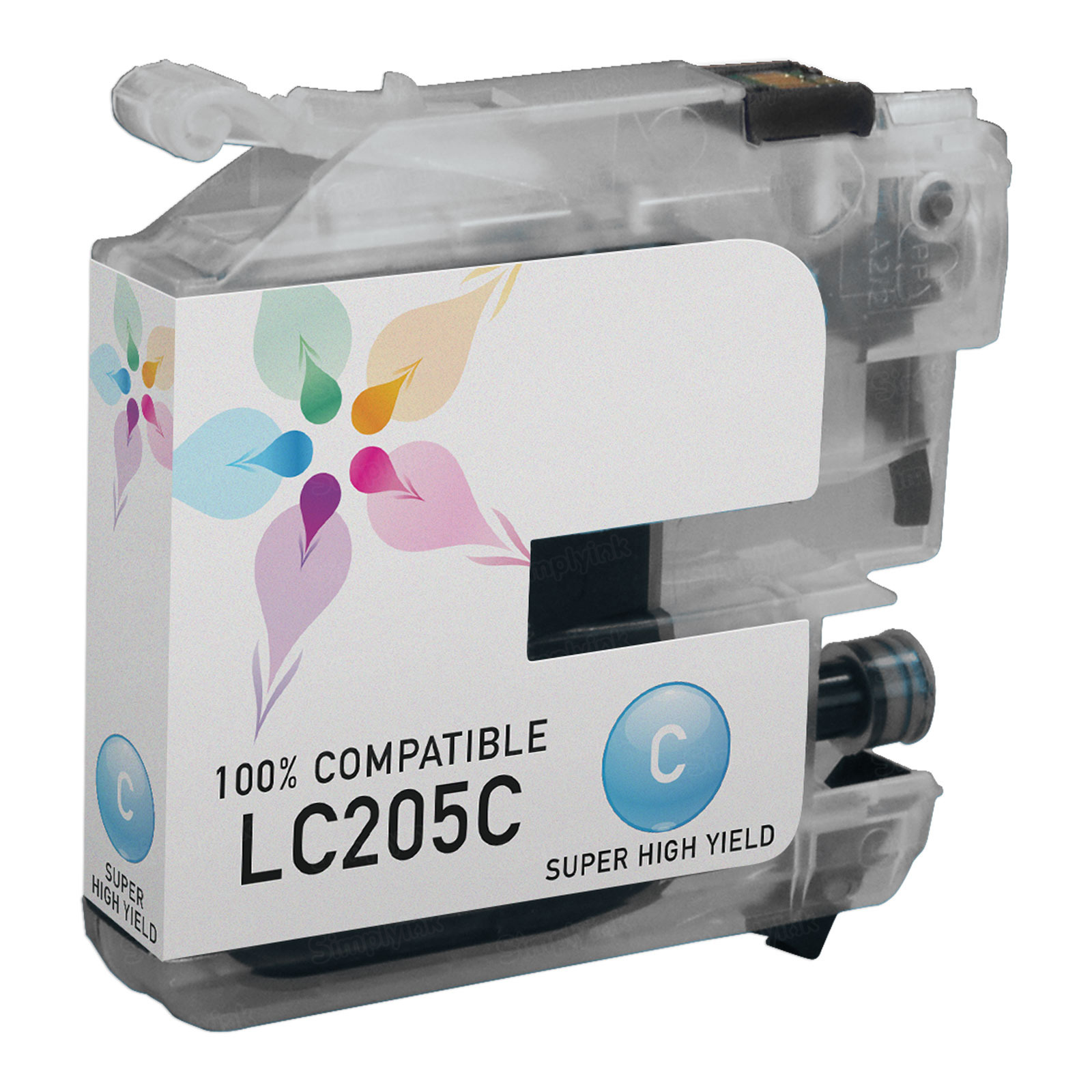 Compatible LC205C Super HY Cyan Ink for Brother