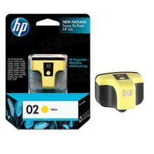 Original HP 02 Yellow Ink Cartridge in Retail Packaging (C8773WN)