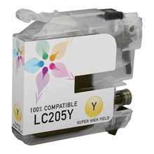 Compatible LC205Y Super High Yield Yellow Ink Cartridge for Brother