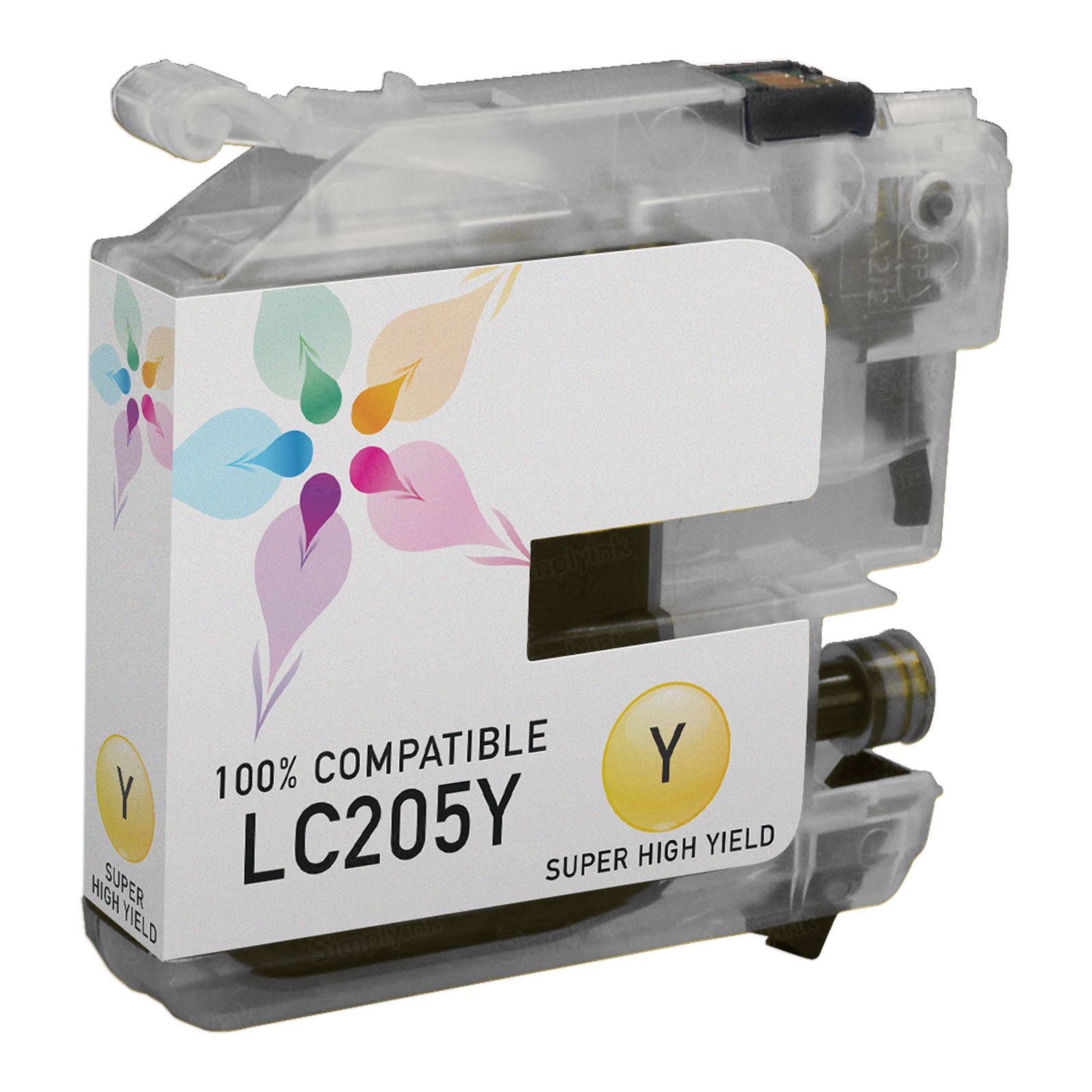 Compatible LC205Y Super HY Yellow Ink for Brother