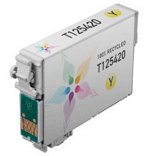 Remanufactured Epson T125420 (T1254) Standard Yield Yellow Ink Cartridges