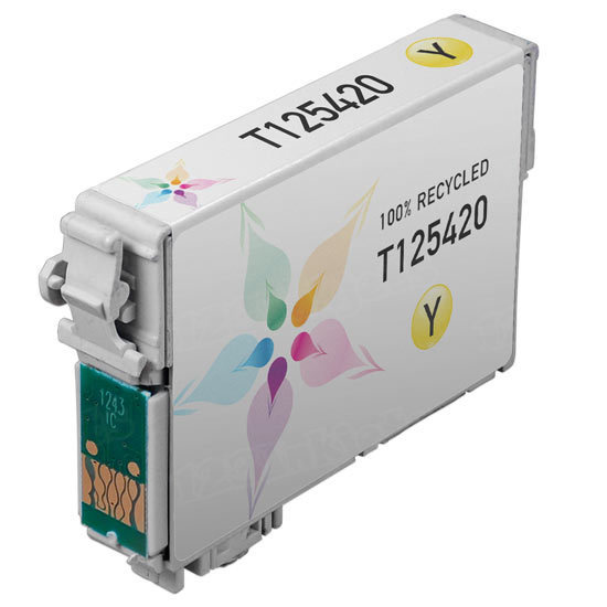 Epson Remanufactured T125420 (T1254) Yellow Inkjet Cartridge