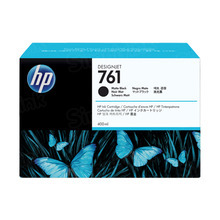 Original HP 761 Matte Black Ink Cartridge in Retail Packaging (CM991A)