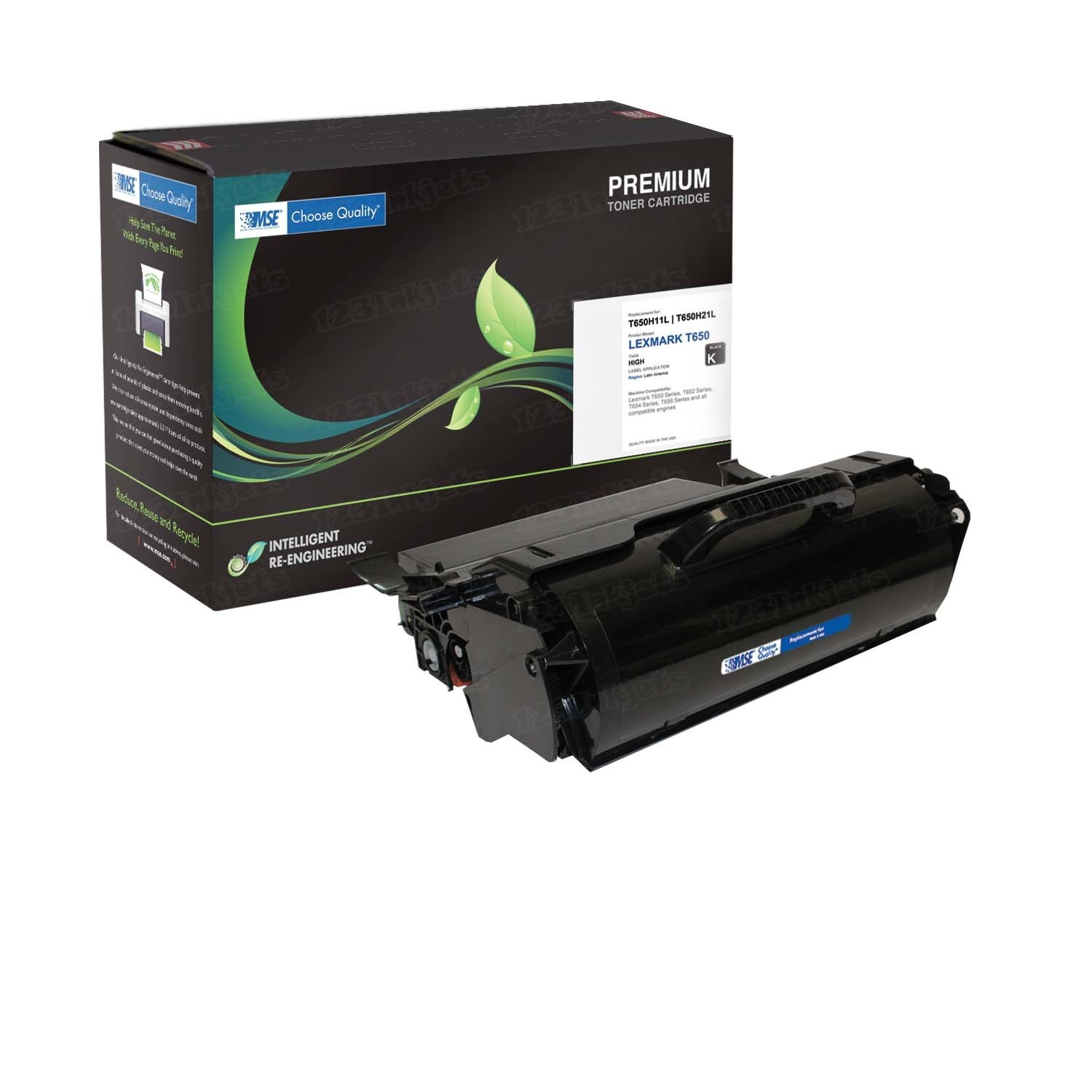 Remanufactured MSE T650H11A High Yield Black Toner