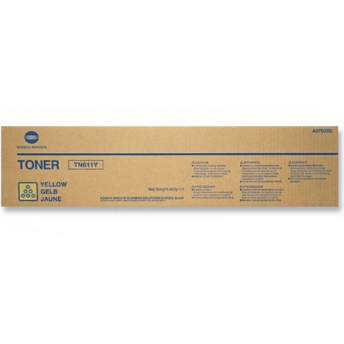 TN611Y Yellow Toner for Konica Minolta