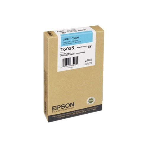 Epson T603500 Light Cyan OEM Ink Cartridge