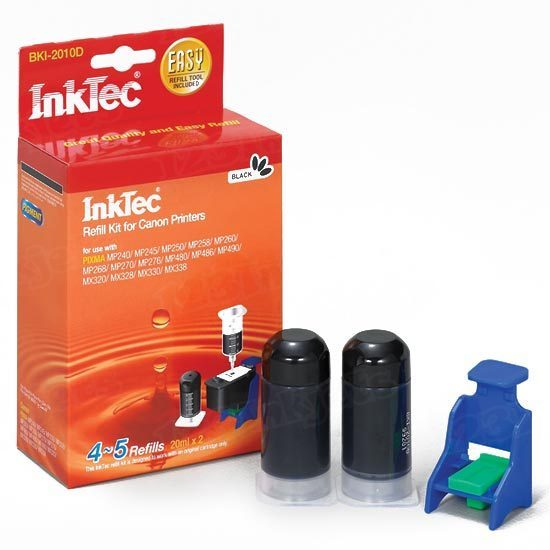 Canon InkTec Refill PG-210 and PG-210XL Black Ink