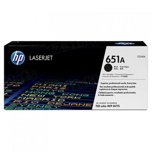 Original HP CE340A (651A) Black Toner