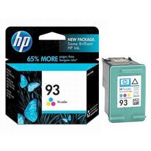 Original HP 93 Tri-Color Ink Cartridge in Retail Packaging (C9361WN)