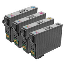 Remanufactured 4 Pack for Epson 200XL: 1 Black, Cyan, Magenta, Yellow