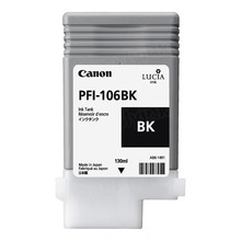 Canon PFI-106BK Black OEM Ink Cartridge, 6621B001AA