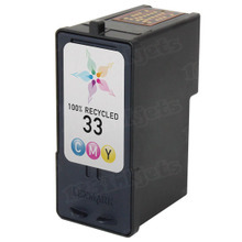 Remanufactured Lexmark 18C0033 (#33) Standard Yield Color Ink Cartridges