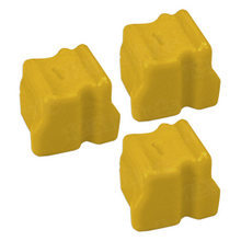 Compatible Xerox Set of 3 Yellow 108R00662 Solid Ink Blocks for the WorkCentre C2424
