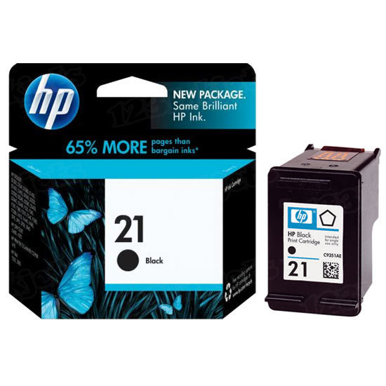 HP 21 Black Original Ink Cartridge C9351AN