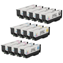 Remanufactured 13 Pack for Epson 277XL: 3 Black & 2 each of Cyan, Magenta, Yellow, Light Cyan, Light Magenta