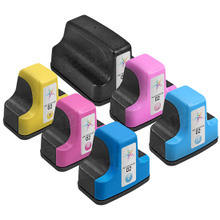 Remanufactured 6 Pack for HP 02: 1 Black, Cyan, Magenta, Yellow, Light Cyan, Light Magenta