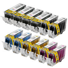 Compatible Canon Bulk Set of 12 PGI225 and CLI226 Ink Cartridges 4 Pigment Black PGI225 (4530B001AA) and 2 each of CLI226: Dye Black (4546B001AA), Cyan (4547B001AA), Magenta (4548B001AA) and Yellow (4549B001AA)