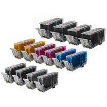 Compatible Canon Bulk Set of 14 PGI225 and CLI226 Ink Cartridges 4 Pigment Black PGI225 (4530B001AA) and 2 each of CLI226: Dye Black (4546B001AA), Cyan (4547B001AA), Magenta (4548B001AA), Yellow (4549B001AA) and Gray