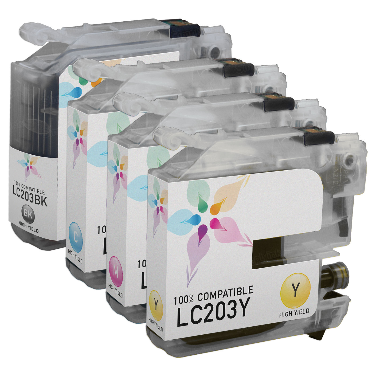Compatible LC203 4 Pack for Brother