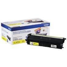 OEM Brother TN433Y High Yield Yellow Laser Toner Cartridge