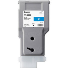Canon PFI-206C Cyan OEM High-Yield Ink Cartridge, 5304B001AA
