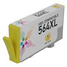 Remanufactured Replacement Ink Cartridge for Hewlett Packard CB325WN (HP 564XL) High-Yield Yellow - Shows Accurate Ink Levels