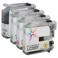 Compatible LC207 & LC205 4 Pack for Brother