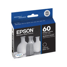 Original Epson 60 Black Inkjet Cartridge (T060120), Standard-Capacity