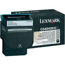 Lexmark OEM High Yield Black Laser Toner Cartridge, C540H2KG (2.5K Page Yield)