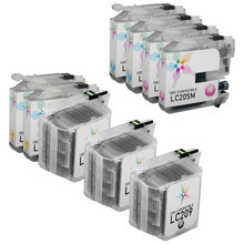 Compatible 9 Pack for Brother LC209 & LC205: 2 Black & 3 each of Cyan, Magenta, Yellow