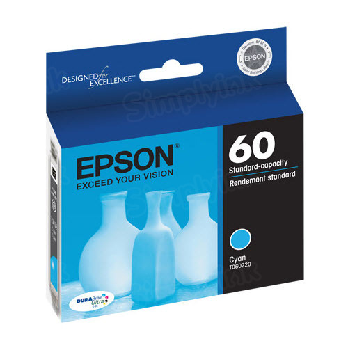 Epson 60 Cyan OEM Ink Cartridge (T060220)