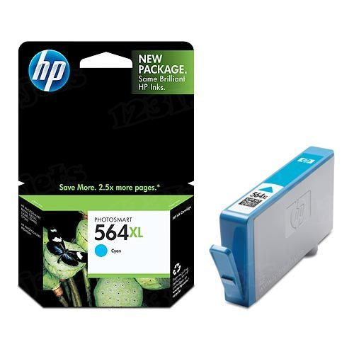 HP 564XL Cyan Original Ink Cartridge CB323WN