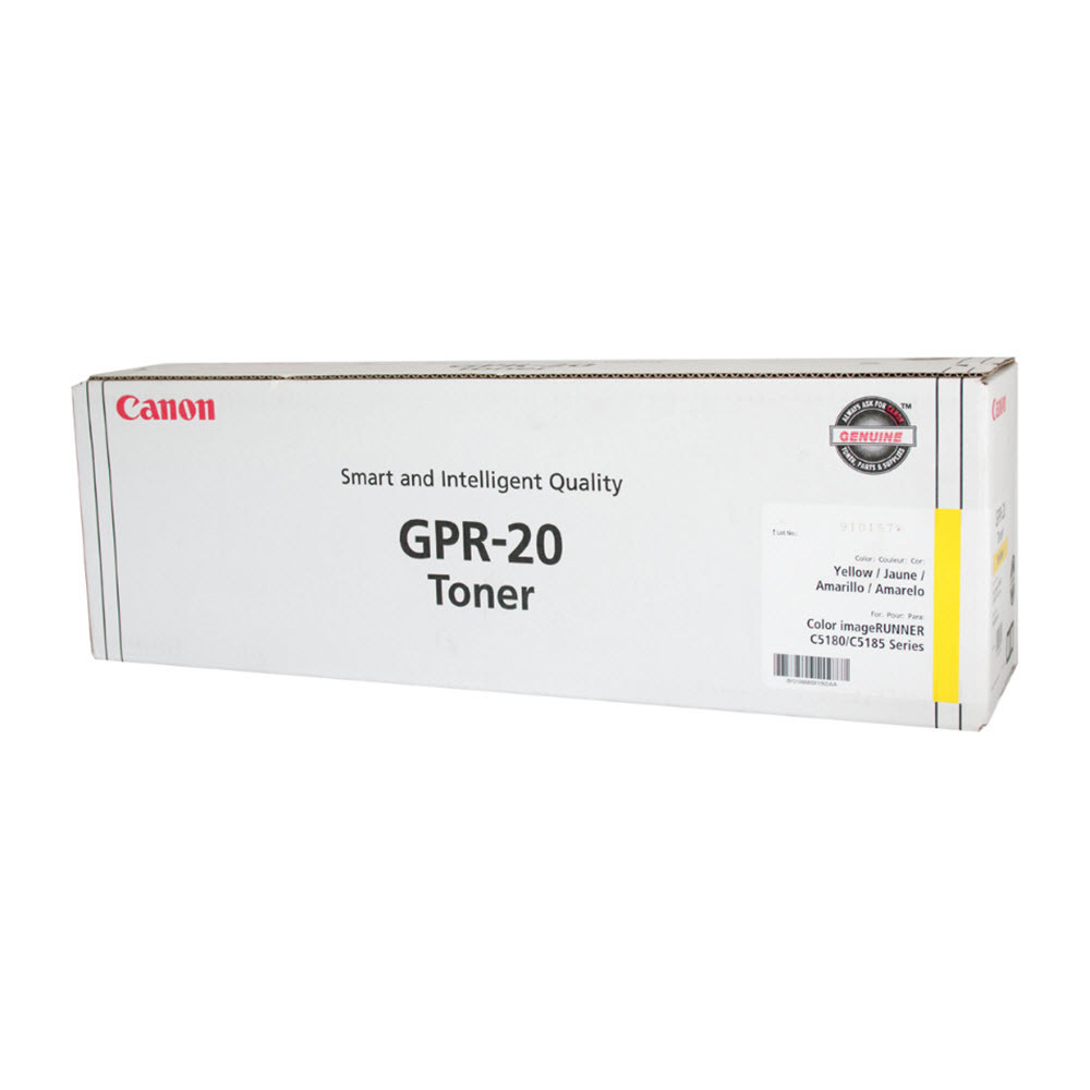 Canon GPR20Y Yellow Toner Cartridge, OEM
