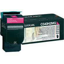 Lexmark OEM High Yield Magenta Laser Toner Cartridge, C540H2MG (2K Page Yield)