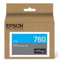 OEM Epson T760220 25.9ml UltraChrome HD Cyan  Ink Cartridge