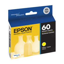 Original Epson 60 Yellow Inkjet Cartridge (T060420), Standard-Capacity