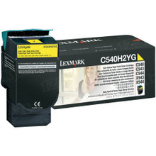 Lexmark OEM High Yield Yellow Laser Toner Cartridge, C540H2YG (2K Page Yield)