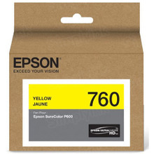 OEM Epson T760420 25.9ml UltraChrome HD Yellow Ink Cartridge