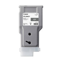 Canon PFI-206GY Gray OEM High-Yield Ink Cartridge, 5312B001AA