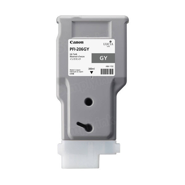Canon PFI-206GY Gray OEM Ink Cartridge