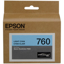 OEM Epson T760520 25.9ml UltraChrome HD Light Cyan Ink Cartridge
