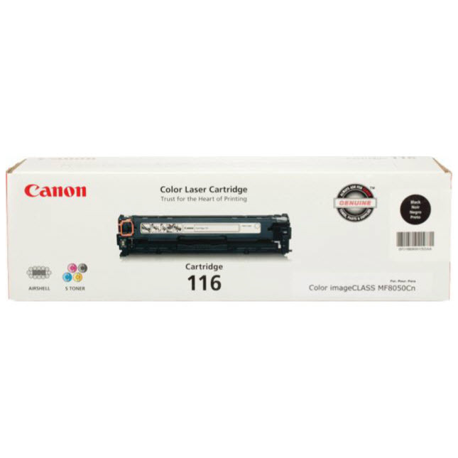 Canon 116 Black Toner Cartridge, OEM