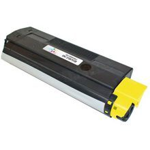 Compatible Okidata 42127401 High Yield Yellow Laser Toner Cartridges 5K Page Yield