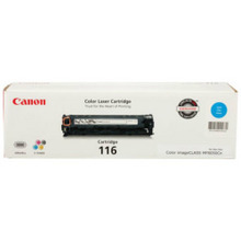 Canon 116 (1,500 Pages) High Yield Cyan Laser Toner Cartridge - OEM 1979B001AA
