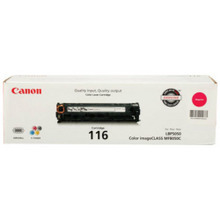 Canon 116 (1,500 Pages) High Yield Magenta Laser Toner Cartridge - OEM 1978B001AA