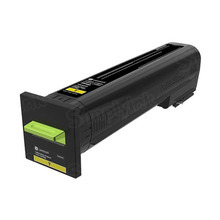 Lexmark OEM Yellow Laser Toner Cartridge, 72K10Y0 (CS820 and CX863) (8,000 Page Yield)u00a0