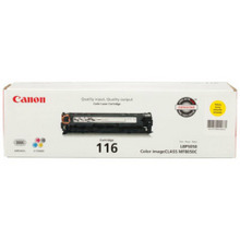 Canon 116 (1,500 Pages) High Yield Yellow Laser Toner Cartridge - OEM 1977B001AA