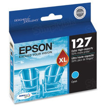 Original Epson 127 Cyan Inkjet Cartridge (T127220), Extra High-Capacity