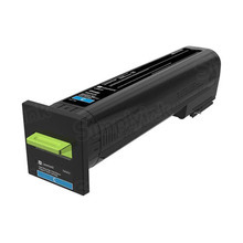 Lexmark OEM Extra High Yield Cyan Laser Toner Cartridge, 72K1XC0 (CS820) (22,000 Page Yield)u00a0